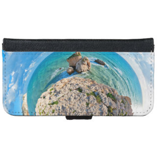 Aphrodite'S Rock From The Sky. Cyprus. iPhone 6 Wallet Case