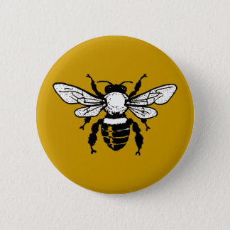 Apis Mellifera Honeybee Button