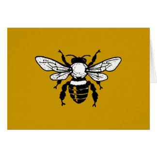 Apis Mellifera Honeybee Greeting Card