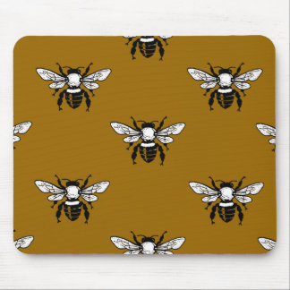Apis Mellifera Honeybee Pattern Mousepad