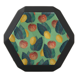 aples and lemons green black bluetooth speaker