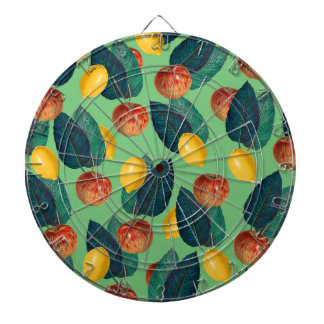 aples and lemons green dartboard