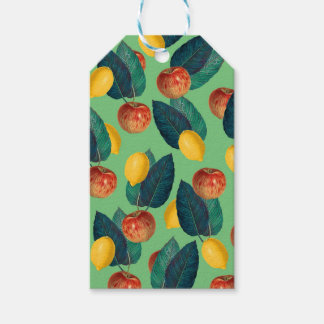 aples and lemons green gift tags