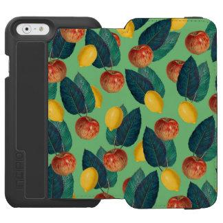 aples and lemons green incipio watson™ iPhone 6 wallet case