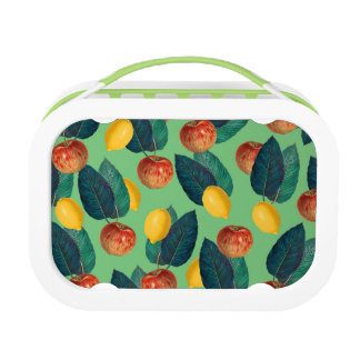 aples and lemons green lunch box