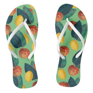 aples and lemons green thongs