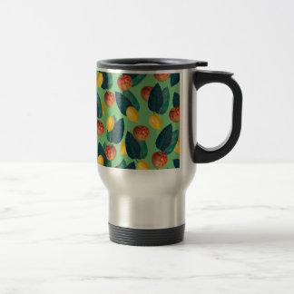 aples and lemons green travel mug