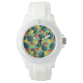 aples and lemons green watch