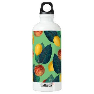 aples and lemons green water bottle