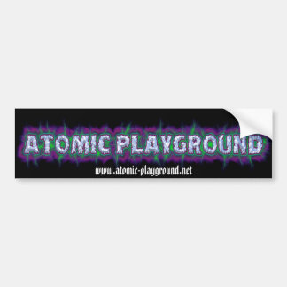 APLogoBumper, www.atomic-playground.net Bumper Sticker
