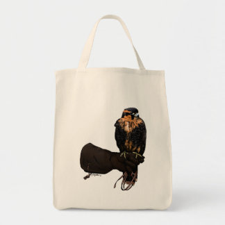 Aplomado Falcon on Glove Tote Bag