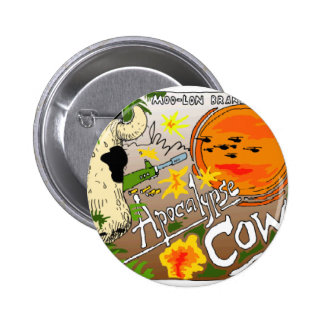 Apocalypse Cow Funny Gifts Cards Tees More 6 Cm Round Badge