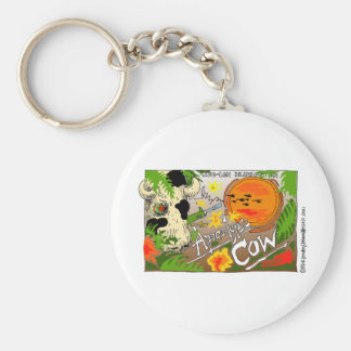 Apocalypse Cow Funny Gifts & Collectibles Basic Round Button Key Ring