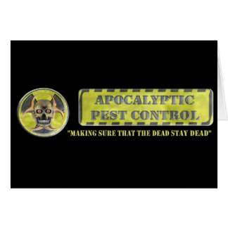 Apocalyptic Pest Control Greeting Card