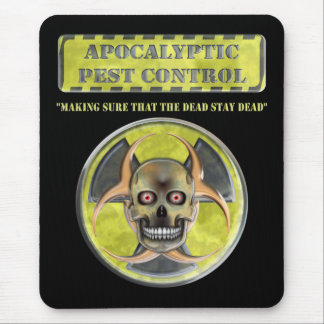 Apocalyptic Pest Control Mouse Pad