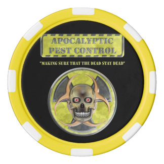 Apocalyptic Pest Control Set Of Poker Chips