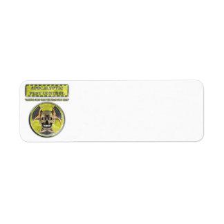 Apocalyptic Pest Control Return Address Label