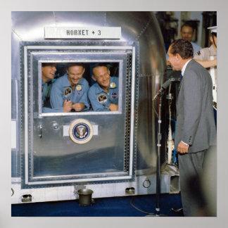 Apollo 11 Crew In Quarantine Poster