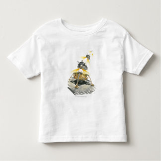 Apollo 11 Eagle module taking off from the Moon Toddler T-Shirt