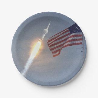 Apollo 11 paper plate