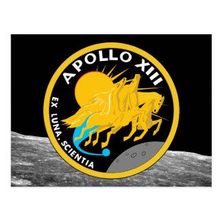 Apollo 13 NASA Mission Patch Logo Postcard