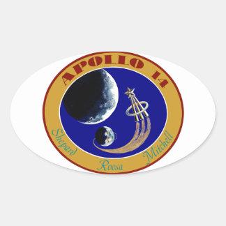 Apollo 14:  We Golf The Moon Oval Sticker