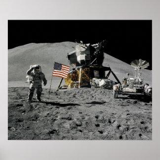 Apollo 15 Lunar Landing Site Poster