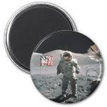 Apollo 17 Last Man on the Moon Fridge Magnet