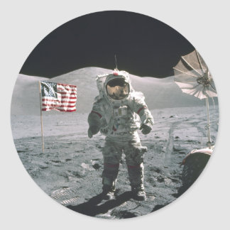 Apollo 17 Last Moon Walk Sticker