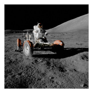 Apollo 17 Lunar Roving Vehicle Poster