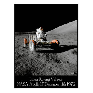 Apollo 17 Lunar Vehicle Postcard