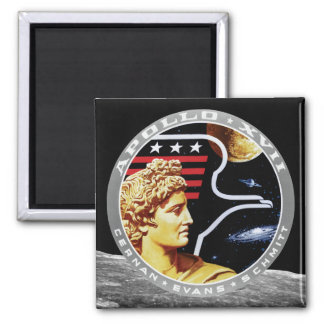 Apollo 17 NASA Mission Patch Logo Magnet