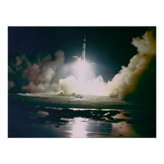 Apollo 17 Night Launch Poster
