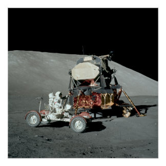 Apollo 17 - The Final Manned Moon Landing Poster