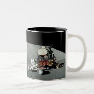 Apollo 17 - The Final Manned Moon Landing Two-Tone Coffee Mug