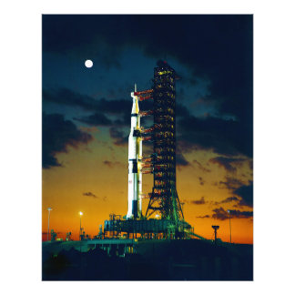 Apollo 4 Saturn V on Pad A Launch Complex 39 Photo Print
