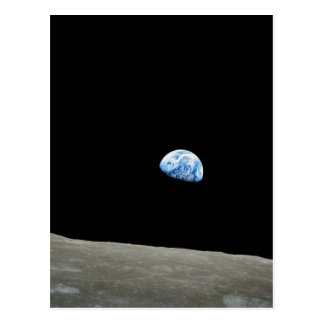 Apollo 8 NASA Moon Mission Earthrise Postcard