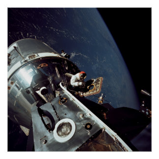 Apollo 9 Command Module docked with Lunar Module Poster