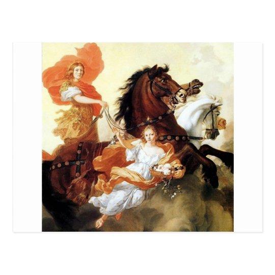 Apollo and Aurora antique painting mythology art Postcard