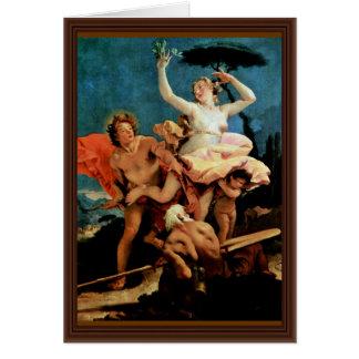 Apollo And Daphne By Tiepolo Giovanni Battista Card