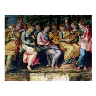 Apollo and the Muses, 1600 Postcard