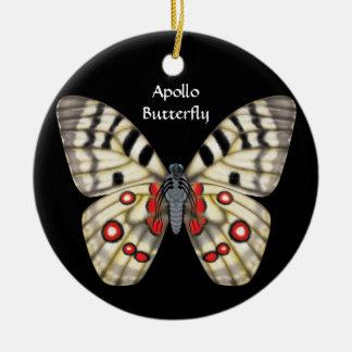 Apollo Butterfly, Dorsal and Ventral Ceramic Ornament