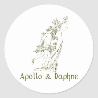 Apollo & Daphne Classic Round Sticker