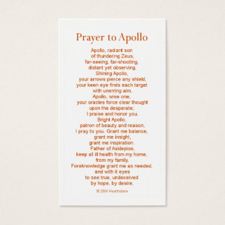 Apollo Prayer Card