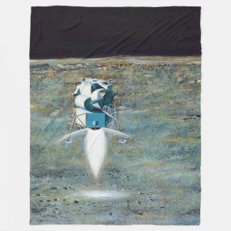 Apollo Program - Moon Mission Artist Concept Fleece Blanket