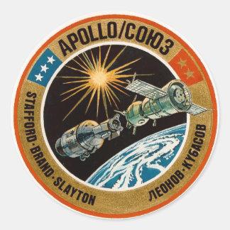 Apollo–Soyuz Test Project Classic Round Sticker
