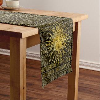 Apollo Sun Symbol on Greek Key Pattern Short Table Runner