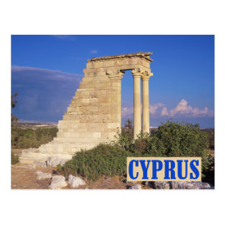 Apollo temple Cyprus postcard
