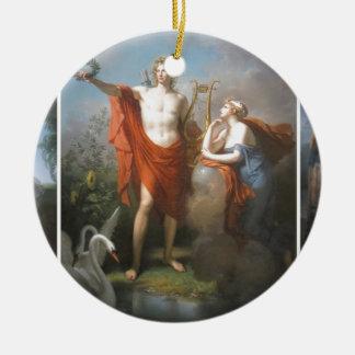 apollo & the muses ceramic ornament