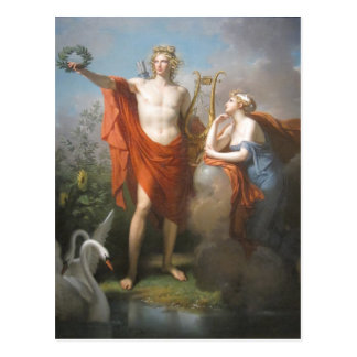 apollo & the muses postcard